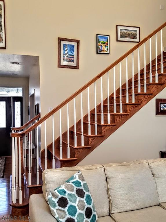 Stairway in living room